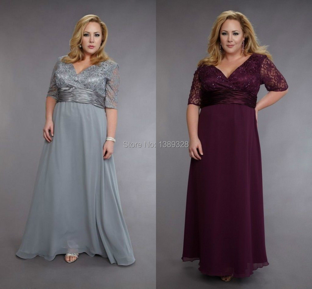 Online Get Cheap Plus Size Silver Mother of The Bride Dresses ...