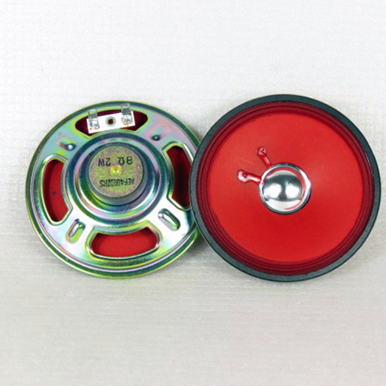 Hearty 2pcs 4-inch Round Full-range Speaker Ultra-thin Model 8ohm 2w Radio /toy Speaker For Diy Consumer Electronics Speaker Accessories