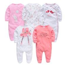 Kavkas/комбинезон с длинными рукавами для маленьких девочек, осенне-зимний комбинезон для новорожденных мальчиков и девочек 3, 6, 9, 12 месяцев, roupa bebes