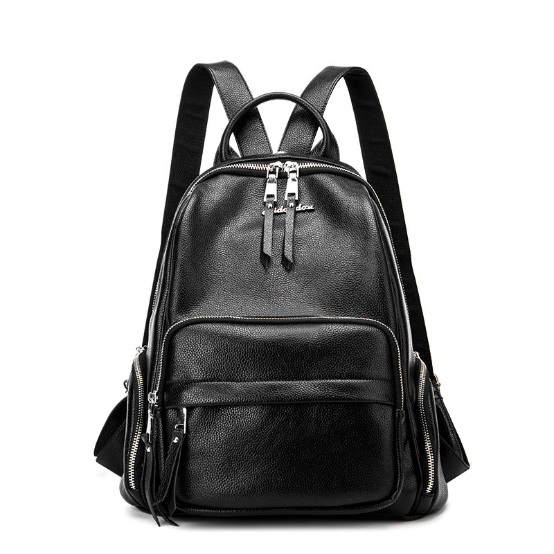 Fashion Genuine Leather Women Backpack Large Capacity Backacks For Teenager Girls School Bag Shoulder Bags