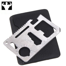 11in1 multi-tool outdoor hunting survival camping pocket military credit card knife gadget function tool