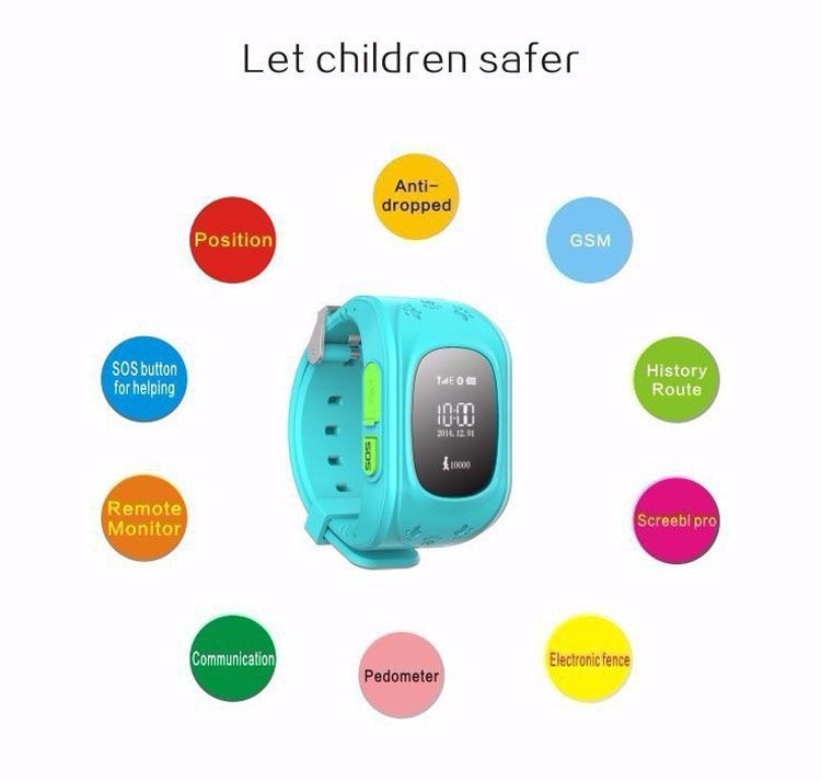 HOT Smart watch Children Kid Wristwatch Q50 GSM GPRS GPS Locator Tracker Anti Lost font b
