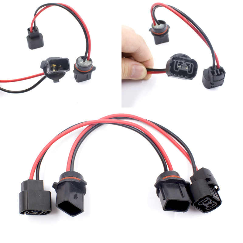 KE LI MI P13W 5502 extension wire wiring harness pre-wire sockets connector adapter plug For fog led lights bulb retrofit work