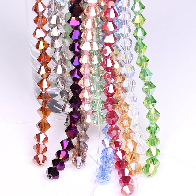 Wholesale Austrian Charm Crystal Bicone Beads 8mm Faceted Glass Loose Beads  Crafts Materials for DIY Making Costume Jewelry f4f61560496d
