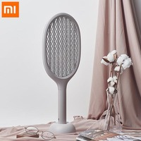 Original Xiaomi Mijia Handheld Electric Mosquito Swatter 360nm Ultraviolet Double layer Anti shock Net Fly Fly Mosquito Killer