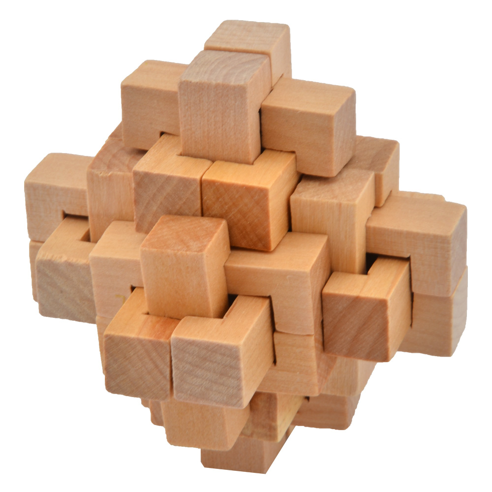 Wooden Intelligence Toy Ming Lock Take out Spiked Ball Brain Teaser To;UK rt