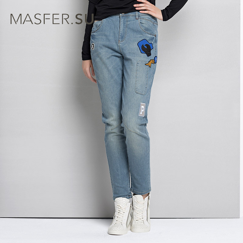 2017 Women's Brand Jeans for Women high waist jeans Hole boyfriend jeans for Women Trousers Fashion Cotton Casual Loose pants