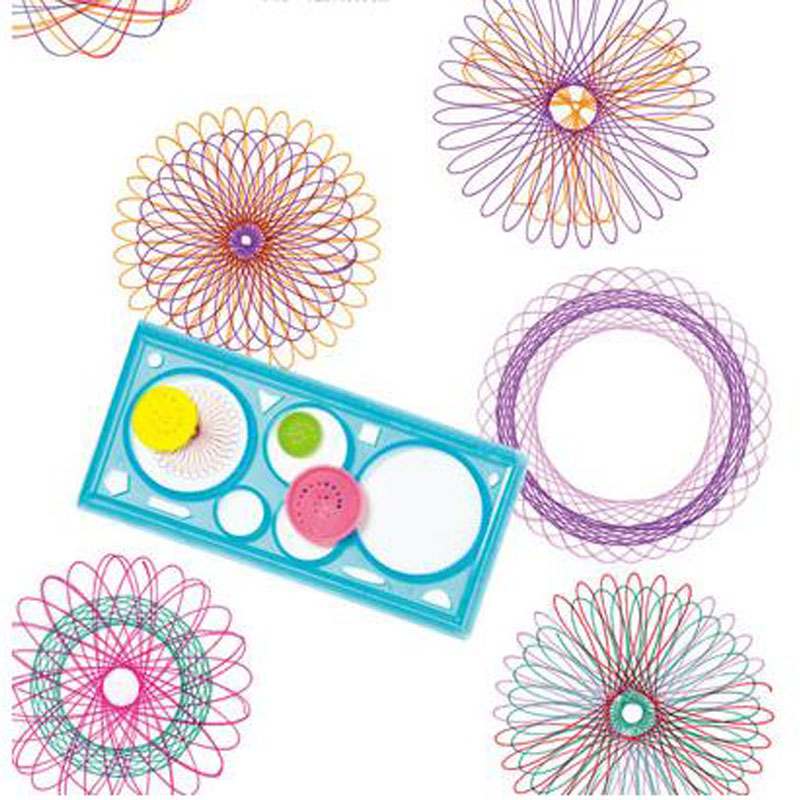 Magic Ruler Spirograph Drawing Children's Educational Toys Multifunction Variety Kids Gift 4 Colors Available Christmas Gift