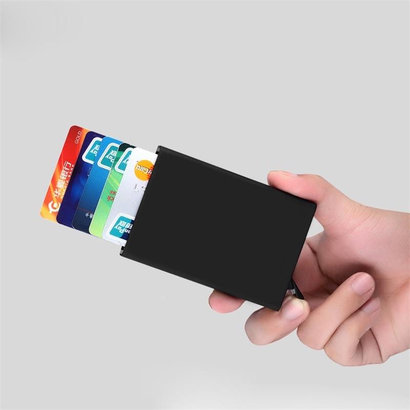 ענייני עסקים כרטיס במקרה אוטומטי להוציא את שם סגסוגת אלומיניום שם כרטיס מתנה כרטיס מתנה גבוהה 5 צבעים לכסות מזהה כרטיס