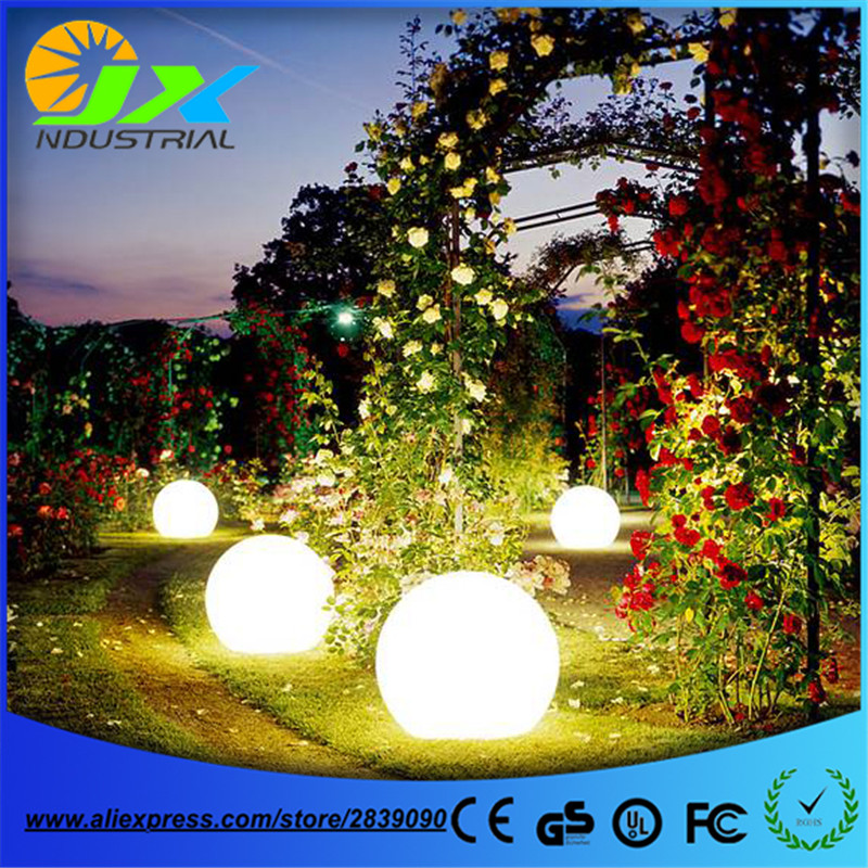 grass path lamp / led outdoor floor lamp waterproof IP65 rechargeable PE material round balls light