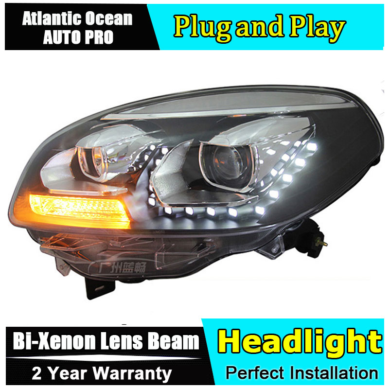 Car Styling LED Head Lamp for Renault Koleos headlights 2012-2014 koleos led headlight drl HID KIT LED Bi-Xenon Lens low beam hireno headlamp for mercedes benz w163 ml320 ml280 ml350 ml430 headlight assembly led drl angel lens double beam hid xenon 2pcs