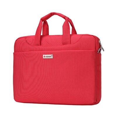 15-16 inch Laptop Bag Women Men Notebook Bag Shoulder Messenger Waterproof Computer Sleeve Handbag (Red)