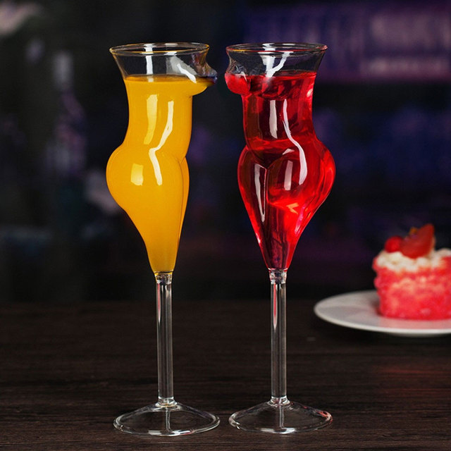 JOUDOO Creative Crystal Sexy Naked Glass Cup Stylish Red Wine Glass Vodka Shot Cup Whiskey Glassware Drinking For Barware 35
