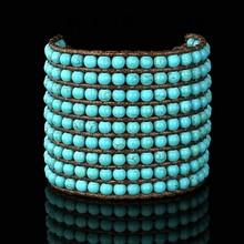 Браслеты в стиле бохо 9 строк камни плетеный браслет с бисером массивный Браслет-манжета браслеты в богемном стиле