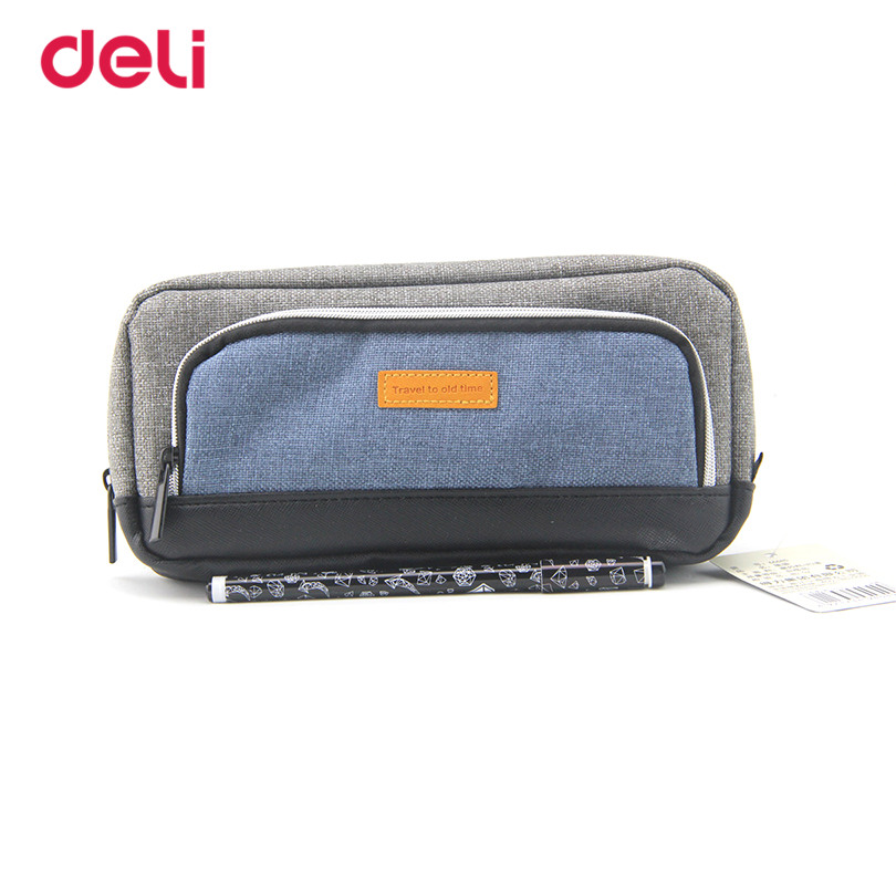 Deli New School & Office Supplies Pencil Bags for Students boys Stationery Business Pencil Bag children kids gifts pencil bags new arrival deli sweet house children pencil sharpeners 0724 cute cartoon students mechanical pencils writing supplies blue