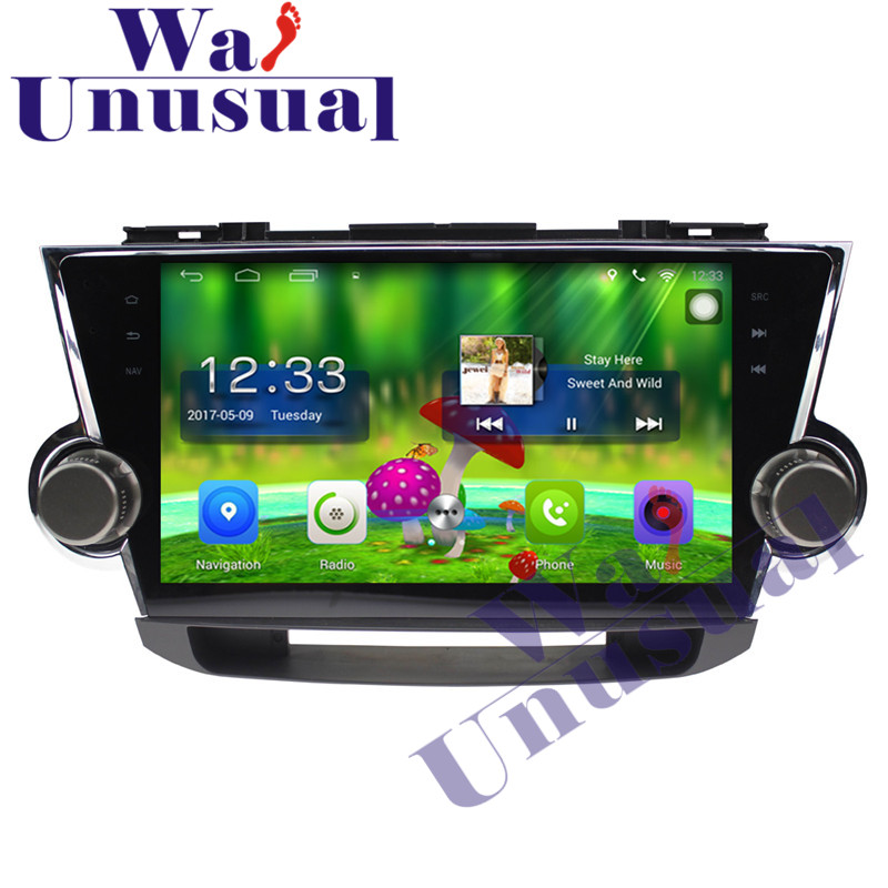 WANUSUAL 10.1 Android 6.0 GPS Navigation For Toyota Highlander 2009 2010 2011 2012 2013 2014 with BT WIFI Quad Core 16G Maps