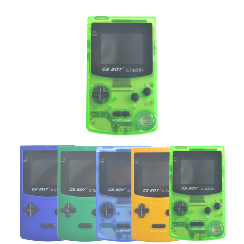 2.7 GB Boy Classic Color Colour Handheld Game Console Game Player with Backlit 66 Built-in Games Juegos Mando Blue Green graffiti classic boy 20 blue