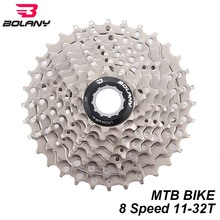 цена на BOLANY Bicycle Freewheel 8s 24s MTB Mountain Bike 8 Speed Cassette 11-32T Sprocket Flywheel For Shimano M700 Bike Parts