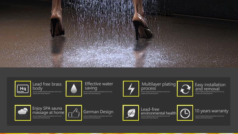 Digital Shower Set Controller Touch Control Panel SUS304 Rainfall Bathroom Thermostatic Control Led Digital Shower Faucet (3)