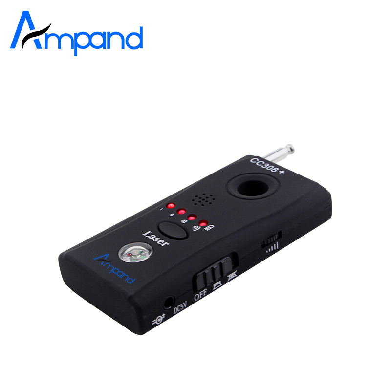 Ampand CC308 Wireless FNR Full-frequency Detector GSM Device Finder Hidden Cam Laser Lens RF Signal Detector 1 pcs wireless signal rf detector tracer hidden camera finder ghost sensor 100 2400 mhz gsm alarm device radio frequency check