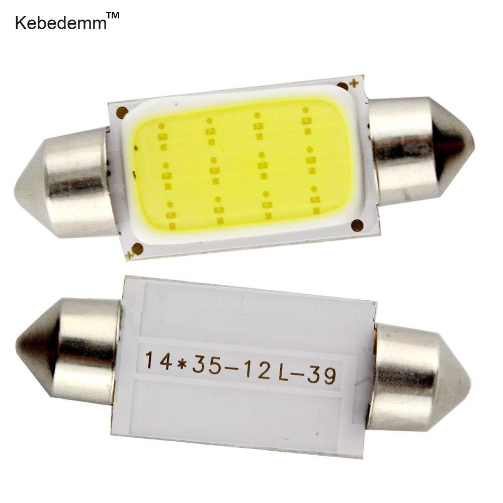 10pcs 31mm 36mm 39mm 41mm COB Car Auto interior led Festoon reading light dome light Map Door Lights Licence Plate lamps Bulb