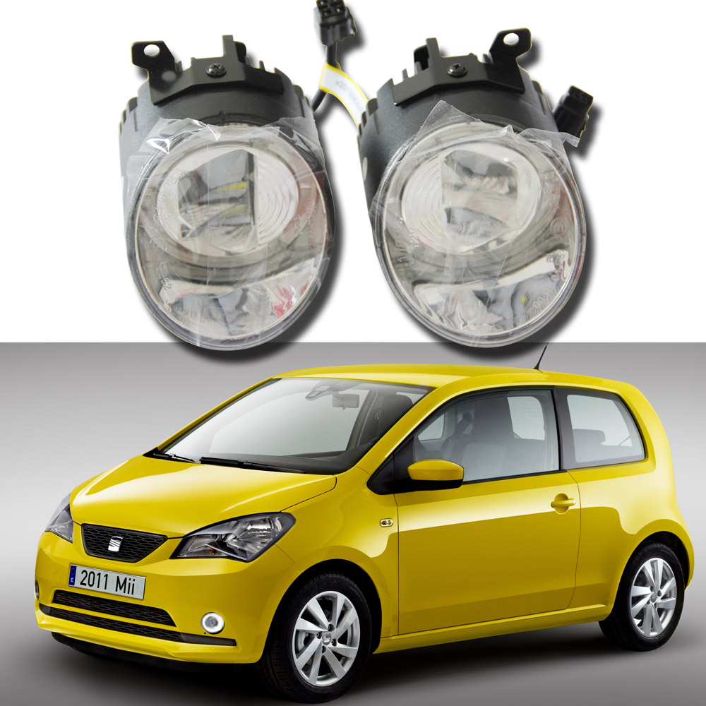 2pcs E4 Approved LED Daytime Running Light Headlight External Driving Light For Seat MII 20122013 12V Auto Car Fog Light Lamb 2pcs car led headlight kit led bulb d33 h11 free canbus auto led lamps white headlamp with yellow light fog light for citroen c4