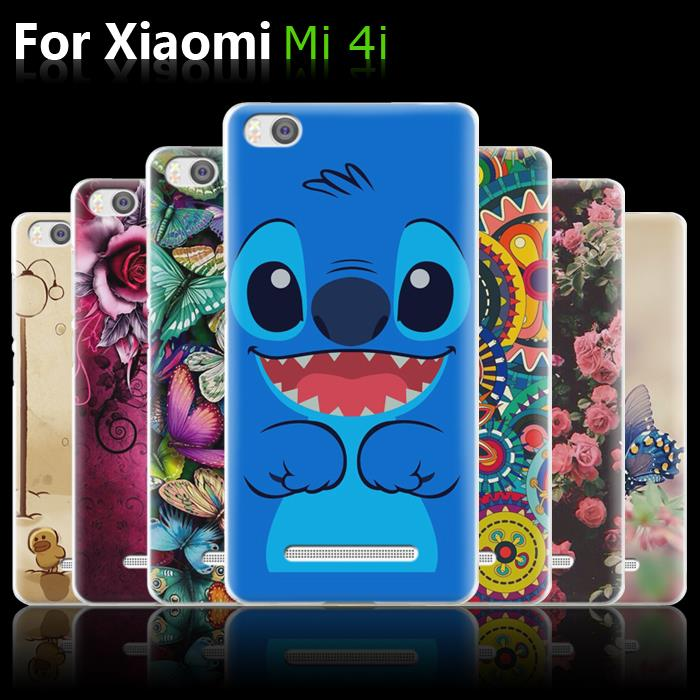 purchase cheap b0fc4 3f52e US $9.98 |xiaomi mi 4i case, Cartoon Printed Transparent Plastic Hard Back  Cover For Xiaomi Mi4i Mi 4i Covers Case 5