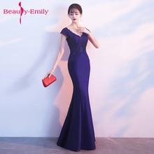 Beauty Emily Robe De Soiree Mermaid Burgundy Long Evening Dress Party Elegant Vestido Festa Prom Gown 2018 prom gown