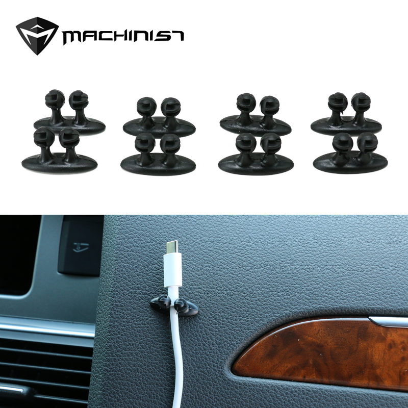8Pcs/set Car Wire Cable Holder Multifunctional Tie Clip Fixer Organizer Car Charger Line Clasp High Quality Headphone Cable Clip