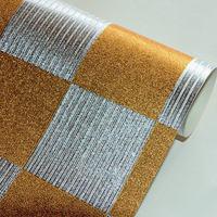 beibehang Embossed Golden Mosaic Wallpaper Gold Foil Silver Foil TV Background Wall Ceiling Wallpaper Glitter Wall Paper Roll