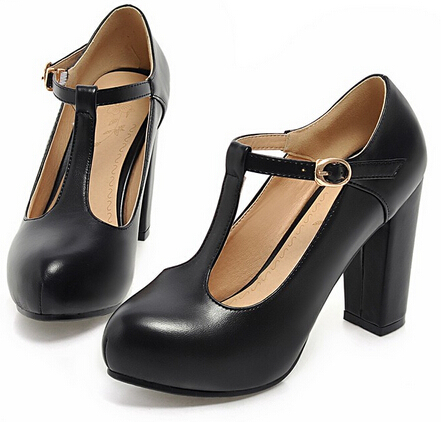 Womens Super Cute Thick Heel Platform Mary Jane Nice Candy Office Pump Shoes For Lady T Strap High In Women S Pumps From On