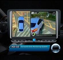 2017 newst HD 3D Envolvente de 360 grados Sistema de Visión panorámica de conducción Sistema de sistema de apoyo Vista de Pájaro Panorama Con G-sensor