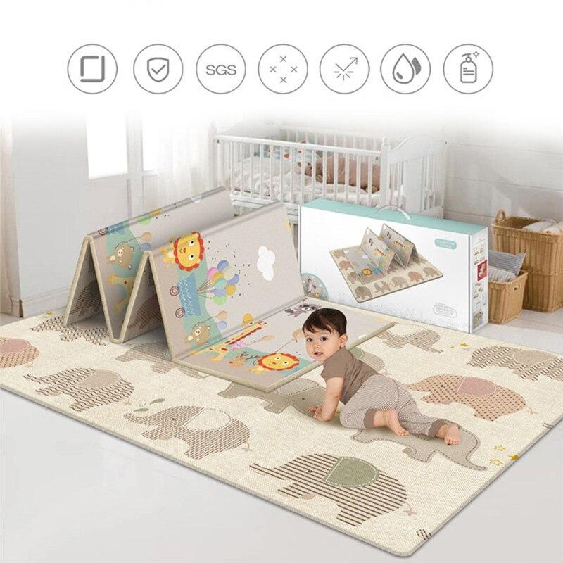 Tapis de jeu rampant antidérapant pliable pour enfants bébé écologique maison tapis Double face résistant à l'humidité sans odeur