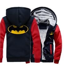 Superman Casual Hooded Men 2019 Winter Thicken Jackets Brand Plus Size Sweatshirts Mens Zip Hoodies Hip Hop Men's Coat