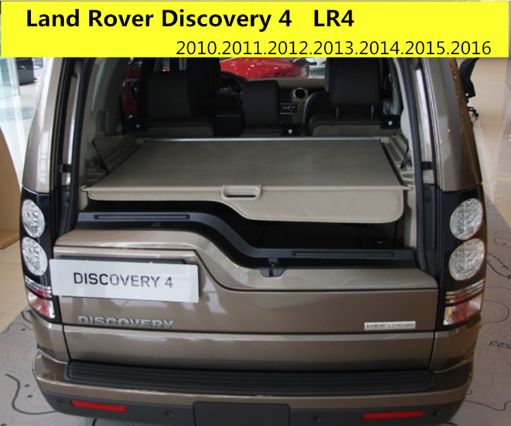 Car Rear Trunk Security Shield Cargo Cover For Land Rover Discovery 4 LR4 2010-2016 High Qualit Black Beige Auto Accessories car rear trunk security shield shade cargo cover for hyundai creta ix25 2014 2015 2016 2017 black beige