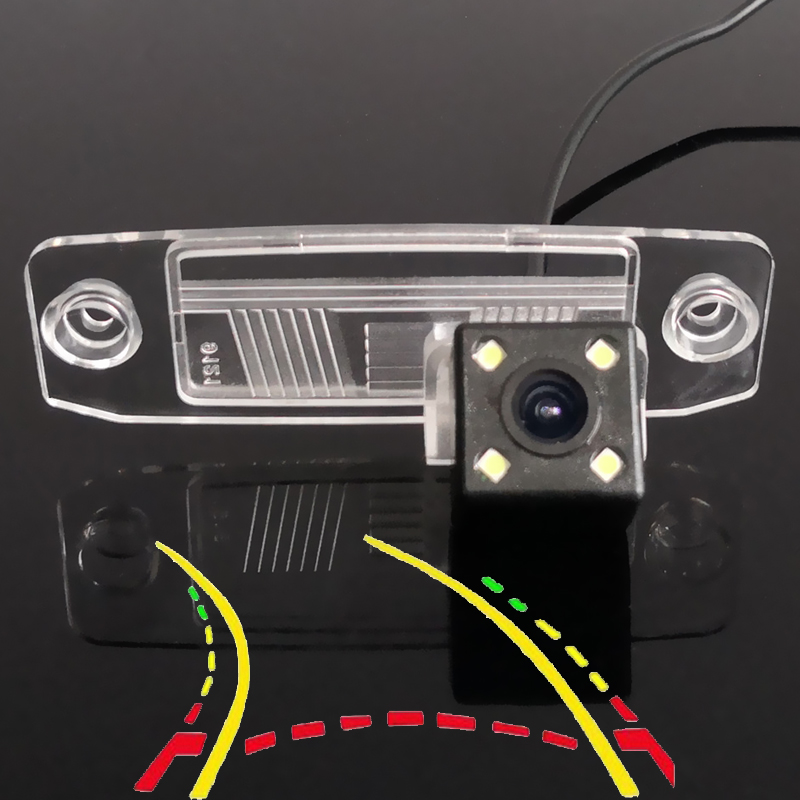 Intelligent Dynamic Trajectory Tracks Car Rear Camera For Hyundai Genesis JM Accent Veracruz Sonata 8 Terracan Tucson Elantra