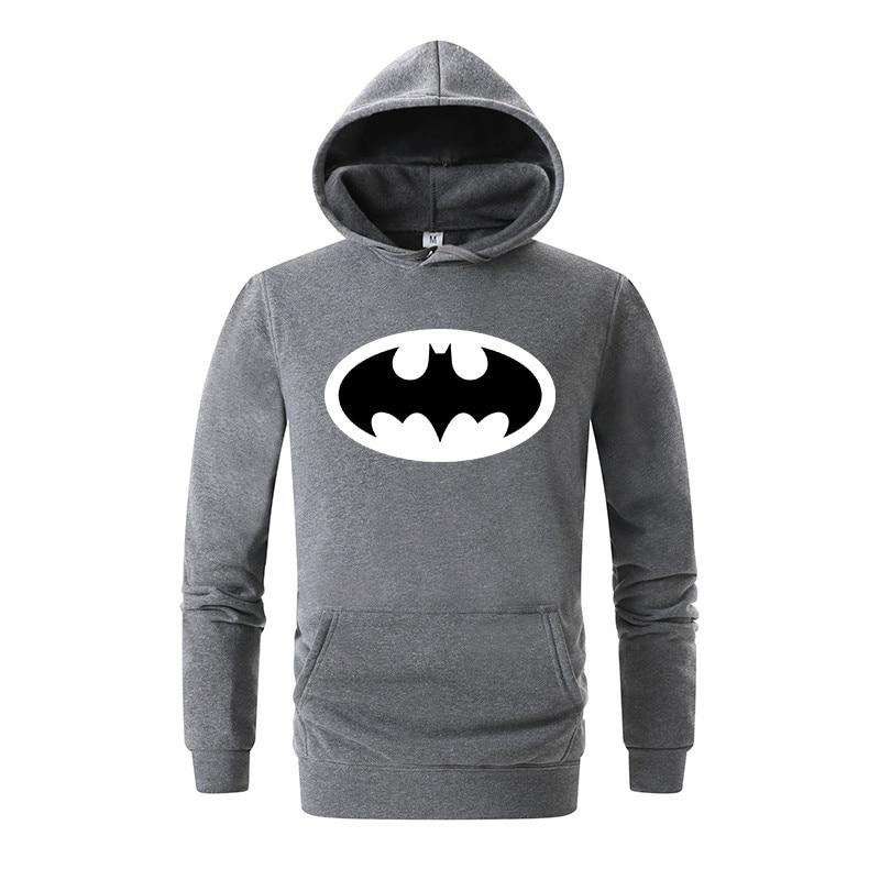 Hot Sale Batman sweatshirt men hooded 2018 autumn winter new fashion casual hoodies men fleece print men hoodies Hoody Men's