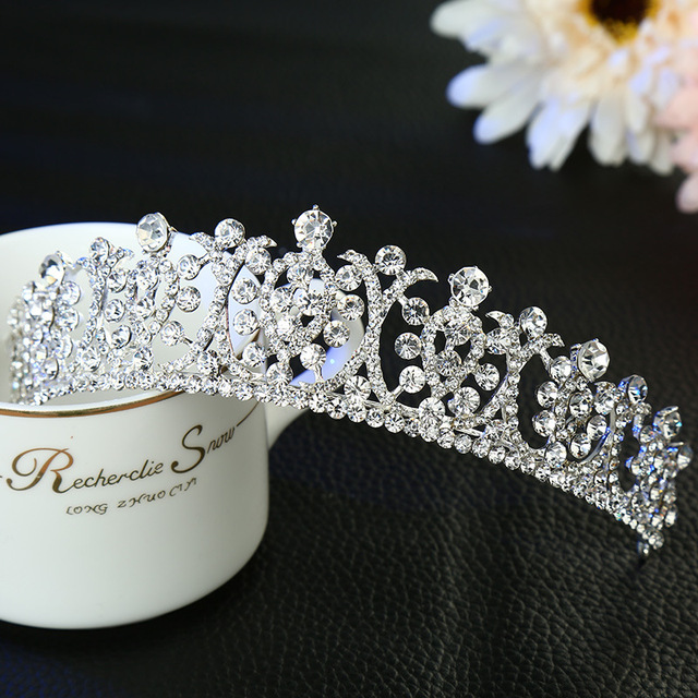 new bride wedding hair jewelry crystal tiara bridal crown crystal fashion accessories wholesale