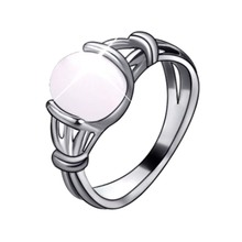 2017 Fashion Moonstone  Zinc Alloy Twilight Bella Stone Rings Gift For Women Girls