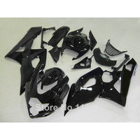 Injection molding motorcycle fairing kit for SUZUKI GSXR1000 2005 2006 all glossy black GSXR 1000 05 06 K5 K6 fairings set UG25