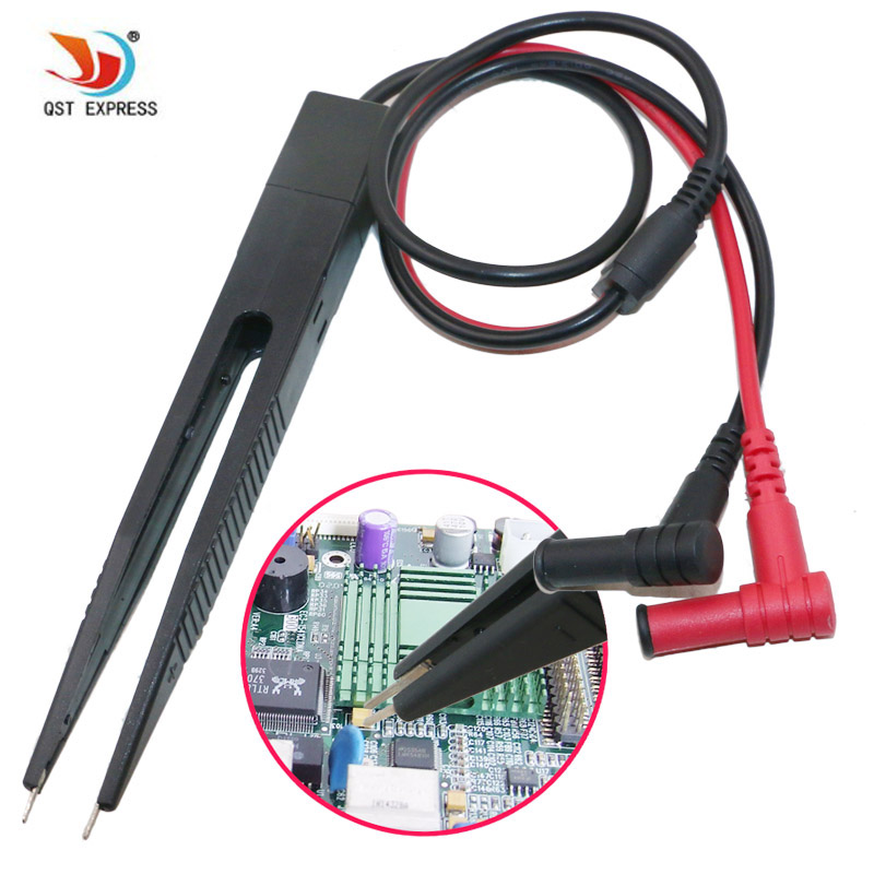 SMD Inductor Test Clip Probe Tweezers For Resistor Multimeter Capacitor