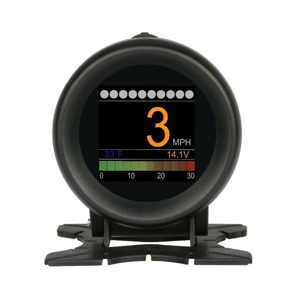AUTOOL X60 Multi-función Digital Turbo Boost presión alarma metros aceite velocidad temperatura del agua 12 V Código OBDII lector