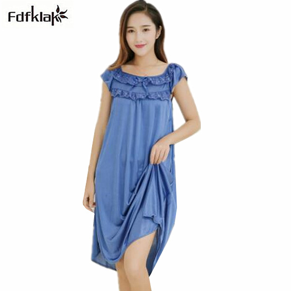 Women Summer Dress Sleepwear Nightgowns Casual Plus Size Ladies