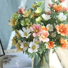 10 Pcs Artificial Silk 5-head Cosmos Photography Props Fake Flower Wedding Home Party Simulation Sik