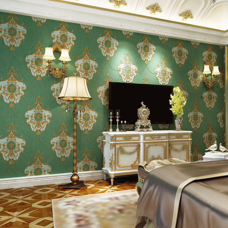 beibehang New European-style retro three-dimensional 3D relief luxury wallpaper bedroom hotel boudoir high-grade wallpaper beibehang european luxury fine imitation embroidery non woven garden garden flowers 3d three dimensional relief wallpaper