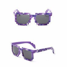 New Vintage Eyeglasses Mosaic Eyewear Thug Life Deal With It Sunglasses Women Man Glasses 8 Bits Style