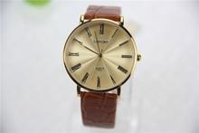 Los hombres de lujo del reloj, a prueba de agua correa de cuero de ocio, relojes de moda de ocio, reloj de cuarzo de los hombres, de gama alta marca de relojes