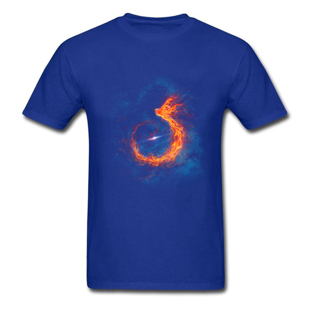Printed T Shirt Dark Green Short Sleeve Men T shirts Out Of Space Burning Phoenix Pattern Tees For Men Cool Design Men 39 s Tshirts in T Shirts from Men 39 s Clothing