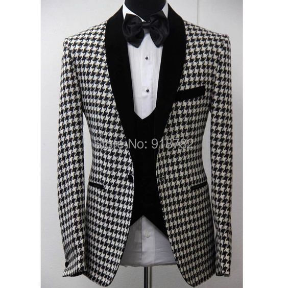 flatwhite Mens Beer Party Suit Jacket Costumes with Tie