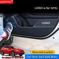 QCBXYYXH Car Styling 4pcs Set Side Edge Anti Kick Door Mats Cover Protection Pad Stickers Auto